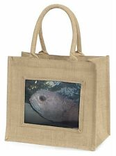 Ugly Fish Large Natural Jute Shopping Bag Christmas Gift Idea, AF-26BLN