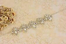 CATENA DI STRASS vintage con applique Crytal Motivo Diamante per gli accessori Collana