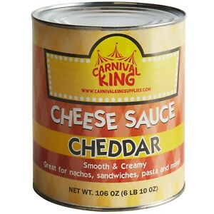 6 Case Bulk Supply Restaurant Concession Stand Canned Cheddar Cheese Sauce