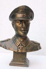 Buste Officier Allemand-Finition Bronze-Hauteur: 18 cm - Fabrication Française