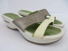 Cole Haan Womens Wedge Sandal Gold White Green Size 8 M #655