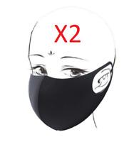2 Masque de Protection Grand Publique  en tissu soie glacée Lavable Réutilisable