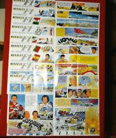 Jean GRATON RENAULT F1 Rare Lot 9 Posters Affiches 60 x 90 cm 1989 hors commerce