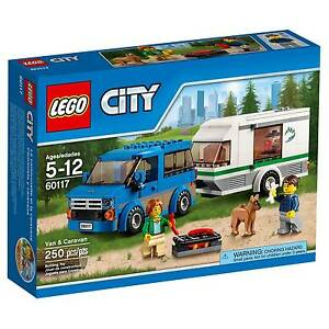 60117 VAN & CARAVAN lego city town SEALED legos set NEW suv camper trailer RV