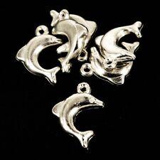Acrílico/Plástico Delfín ~ Colgantes/cuentas/Amuletos fabricación de joyas, Scrapbook X 25 NP