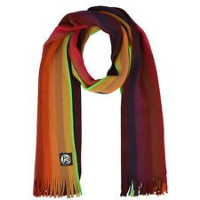 PAUL SMITH PS STRIPED SCARF RED ORANGE GREEN NEW GENUINE WITH TAGS JEANS