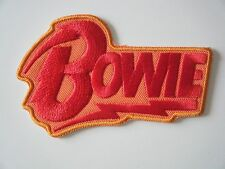 DAVID BOWIE PATCH Diamond Dogs Embroidered Iron On Badge RED / YELLOW FLASH NEW