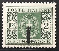 Regno RSI 1944 segnatasse lire 2 verde mnh