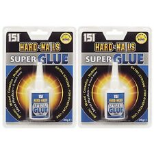 2 x 151 Hard As Nails Super Glue Adhesive 20g Extra Strong Ceramic Wood Rubber