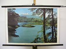 schönes altes Wandbild Vulkano Calbuco Südchilenische Seen 75x52cm vintage~1960