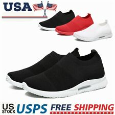 Men's Comfort Running Shoes Casual Slip On Sneakers Jogging Walking Tennis US