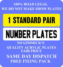 NUMBER PLATES 1 PAIR SAME REG REGISTRATION PLATES PROOF OF ENTITLEMENT REQUIRED