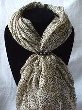 Scarf + Scarf Ring Gift Set Leopard + Black & Gold Scarf Ring (Large) + Gift Bag