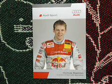 2006 DTM AUDI SPORT DRIVER INFO CARD - MATTIAS EKSTROM