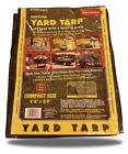 "Yard Tarp with Drawstring-Poly Rope in Hem- Best Multi-Purpose Cover 5'4"" x 5'4"""