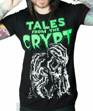 Tales From The Crypt 2X Graphic Tee Shirt Horror Goth Halloween Black Glow Dark