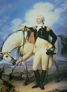 Oil painting The founding president of the United States George Washington horse