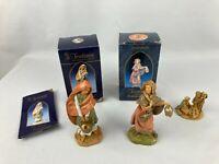 Vintage Fontanini Despose Italy Nativity Figures Lot Of 3 Naamah Elisabeth Jesus