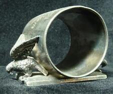 Antique Victorian Silverplate Figural Napkin Ring, Double Eagle Meriden 146