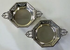 Pair Mappin & Webb sterling silver sweetmeat / bon bon dishes 136g  B'ham 1944