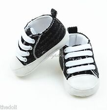 Black Bling Sequins Toddler Baby Boy Girl Soft Sole Crib Shoe Sneakers for 6-9 M