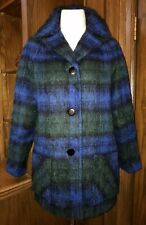 Vintage STRATHTAY ORIGINALS Black Watch Plaid MOHAIR Coat Made in Scotland M EUC