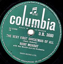 "XMAS 78 RUBY MURRAY - "" THE VERY FIRST CHRISTMAS OF ALL "" UK COLUBIA DB 3680 EX-"