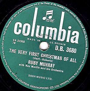 XMAS 78 RUBY MURRAY -  THE VERY FIRST CHRISTMAS OF ALL UK COLUMBIA DB 3680 E-/V+