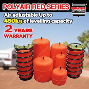 Polyair Red Air Bag Suspension Kit 450kg for SSANGYONG REXTON KORANDO NOT IRS