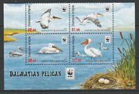 Kyrgyzstan 2017 WWF Birds, Pelicans 4 MNH stamps