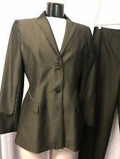Caslon Women's Pant Suit Olive Brown Split Size 10 12P