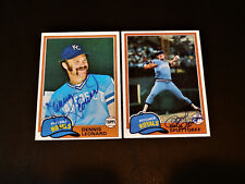 Dennis Leonard 1981 Topps #185 Autograph KC Royals Signed Card Vintage '80s Auto