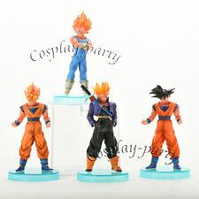 Dragon Ball Z Super Saiyan Fusion 4x Figures Dolls Toys: Goku Vegeta Trunks NEW