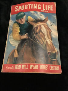 Rare - Sporting Life, April, 1949, Turning For Home, Featuring Jack Sheedy