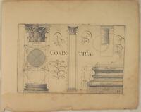 RENAISSANCE Manierismus Orig. VRIESE Kupferstich 1605 Korinth Säulen Architektur