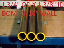 """1.375/"""" OD x .065/"""" wall x 72/"""" DOM Carbon Steel Tube 2 pcs"""