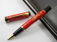 RED Calligraphy painting pattern golden Trim metal hero  Rollerball Pen