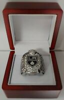 Jonathan Quick - 2012 Los Angeles Kings Stanley Cup Hockey Ring With Wooden Box