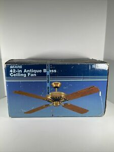 Vintage Sears 42 inch Antique Brass Ceiling Fan NOS 42 1105 Home Remodel