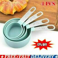 4pcs Steel Measuring Cups Spoons Kitchen Baking Cooking Tools Set Hot