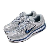 Nike Wmns P-6000 Silver Blue Womens Retro Running Shoes Sneakers BV1021-001