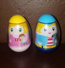 Weebles~*Girl w/ Doll & Boy w/Dog*~ #3 #12 Brother/Sister 2009