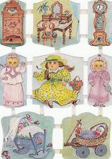 DDR Alte Oblaten, Stammbuchbilder, Klebebilder Puppen und Zubehör Bogen