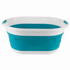 Beldray COMBO-3957 Oval Collapsible Laundry Basket, Set of 2, Turquoise