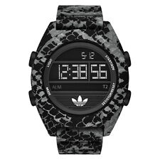ADIDAS ORIGINALS ADH3046 CALGARY GRAY & BLACK ANIMAL PRINT SILICONE MEN'S WATCH
