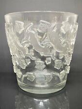 R.Lalique, vase aux Bouquetins (Daum,Gallé,Schneider,muller...)