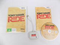Tony Hawk Ride - Nintendo Wii Skateboarding Game + Original Dongle Hawk's