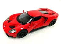 """New 5"""" Kinsmart 2017 Ford GT 1:38 Scale Diecast Model Toy Car- Red"""