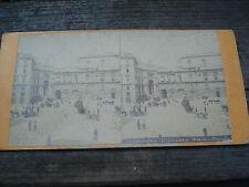 PHOTO  STEREO ITALIE NAPLES THEATRO SAN CARLO 1880 ALBUMEN STEREOVIEW