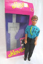 BARBIE DOLL 1990 SKIPPER COOL TEEN BOYFRIEND KEVIN MATTEL WITH BOX CLOTHING